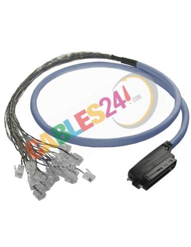 Cable Telco CAT.3 RJ-21 Macho 90 grados a 24 RJ11 macho