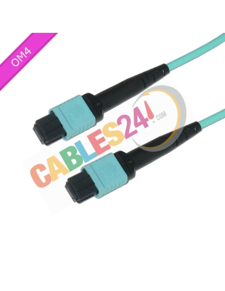 Cable Fibra Óptica Multimodo MPO/MTP, 24 Fibras OM4 Tipo A