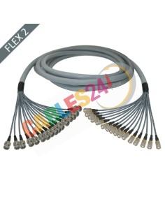 Manguera cable multi-coaxial 75 Ohmios 16 x Flex 2 Siemens DIN 1.6/5.6 Macho a BNC Macho