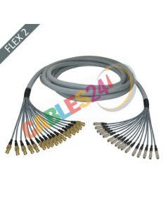 Manguera cable multi-coaxial 75 Ohmios 16 x Flex 2 Siemens DIN 1.6/5.6 Hembra a 1.0/2.3 Macho