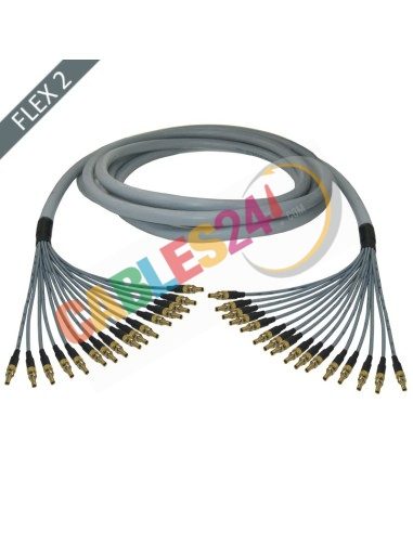 Manguera cable multi-coaxial 75 Ohmios 16 x Flex 2 Siemens DIN 1.0/2.3 Hembra-Hembra