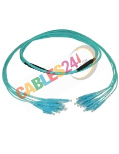 Manguera Fibra Óptica OM3 Multimodo 8 conexiones LC