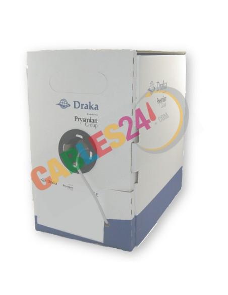 Cable UTP CAT5e 4x2xAWG24 LSZH Gris Draka. Caja de 305 metros.