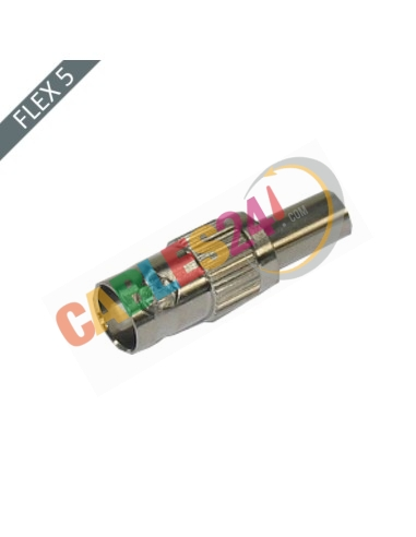 Conector BNC Hembra 75 Ohm recto crimpar Flex5/75