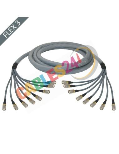 Manguera cable multi-coaxial 75 Ohmios 8 x Flex 3 Siemens DIN 1.6/5.6 Macho-Macho