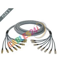 Manguera cable multi-coaxial 75 Ohmios 8 x Flex 5 Siemens DIN 1.6/5.6 Macho-Hembra