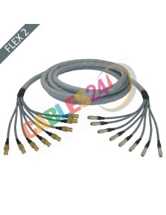 Manguera cable multi-coaxial 75 Ohmios 8 x Flex 2 Siemens DIN 1.0/2.3 Macho-Macho