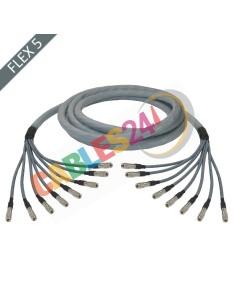 Hose multi-coaxial wire 75 Ohms 8 x Flex 5 Siemens DIN 1.0/2.3 Male-Male
