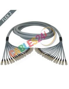 Manguera cable multi-coaxial 75 Ohmios 16 x Flex 2 Siemens DIN 1.6/5.6 Macho-Macho