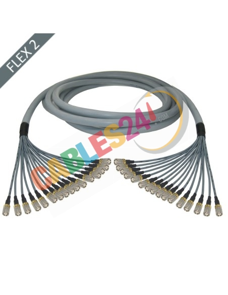 Hose multi-coaxial wire 75 Ohms 16 x Flex 2 Siemens DIN 1.6/5.6 Male-Male