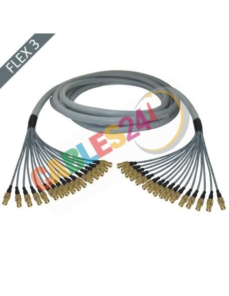 Hose multi-coaxial wire 75 Ohms 16 x Flex 3 Siemens DIN 1.6/5.6 Female-Female