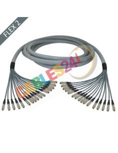 Manguera cable multi-coaxial 75 Ohmios 16 x Flex 2 Siemens DIN 1.0/2.3 Macho-Macho