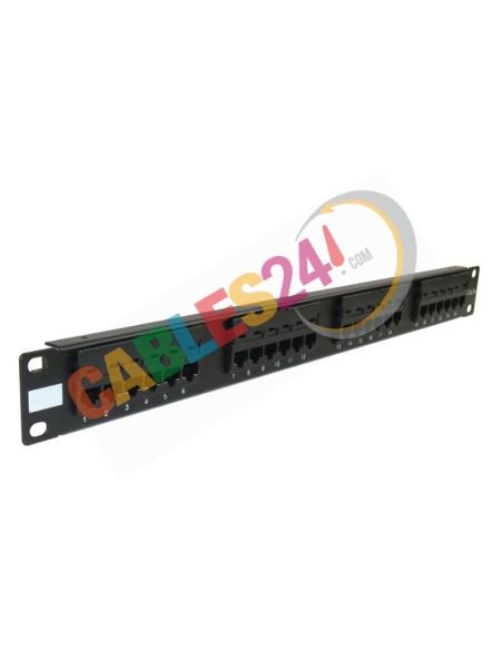 Panel 19-inch rack 1U 24 RJ45 Category 5e