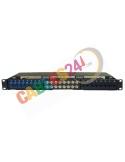 Panel 1U 19-inch Hybrid Ethernet Cat6, coaxial and Fiber Optic SC