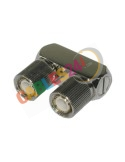 Coaxial Adapter U link DIN1.6/5.6 2xmale 75 Ohm