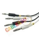 Cable de test Krone de 4 polos para regletas LSA-PLUS