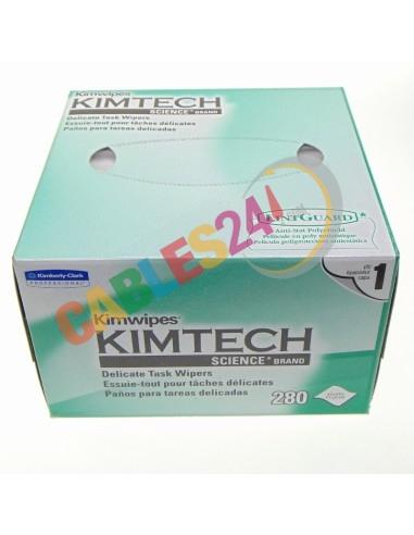 Toallitas de papel para limpieza de conectores de fibra óptica