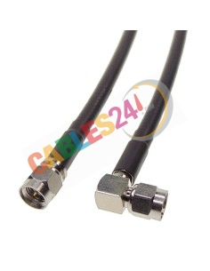 Cable RG223 SMA macho acodado a SMA macho recto