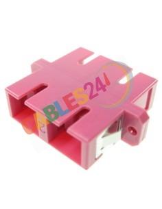 Adaptador Fibra Óptica OM4 SC-SC Duplex