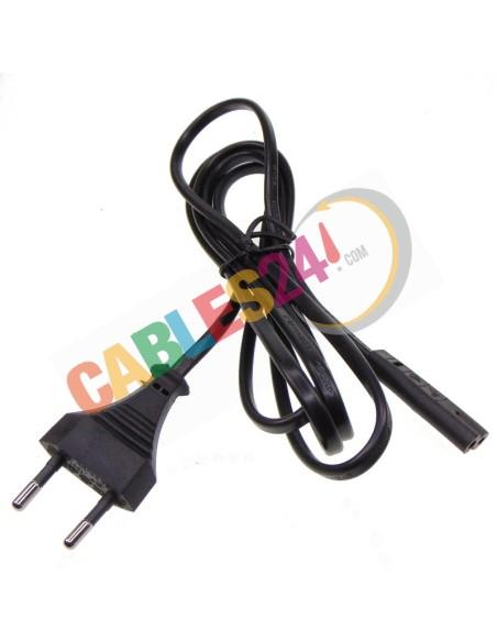 Cable Alimentación IEC C7 a clavija macho XV1 europlug 2 polos