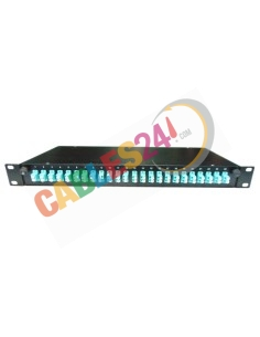 Fiber Optic Splice Tray 19'' 1U 24 x LC OM3 multimode Simplex