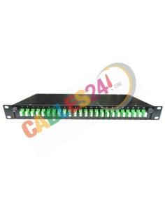 Fiber Optic Splice Tray 19'' 1U 24 x LC APC single mode Duplex