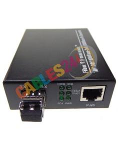 Conversor de medio Ethernet 10/100/1000M SFP multimodo LC 550m