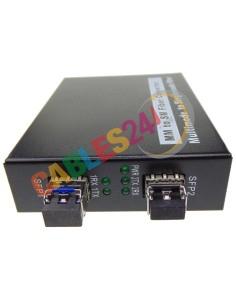 Conversor Ethernet de fibra óptica multimodo a monomodo
